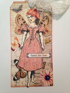 """""""Fairy"""" tag swap for February, 2015 using Character Construction stamps by Catherine Moore."""