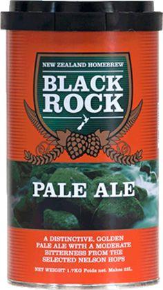 Black Rock India Pale Ale  O bere distinctiva, nivel mediu de hamei, prima data creata pentru britanicii din India.  Ingrediente: Malt - lager Hamei - Green Bullet, Pacific Jade Apa Drojdie (sub capac) Extract de malt poate fi prezent.  O cutie de 1.7 kg va produce 23 de litri de bere de buna calitate. Necesita 1 kg de zahar si apa proaspata. Drojdia este inclusa in kit.
