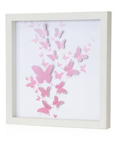 Another great find on #zulily! Pink 3-D Butterfly Wall Art #zulilyfinds