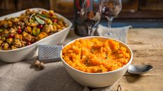 This Root Vegetable Mash recipe is the perfect medley blend of root vegetables. Ingredients 2 large russet or Yukon gold potatoes 1 sweet potato or yam 1 medium turnip or 3 parsnips 3 large carrots 1/2 cup vegetable broth 1/4 cup olive oil 1 tsp nutmeg 2 sprigs fresh thyme Salt and pepper