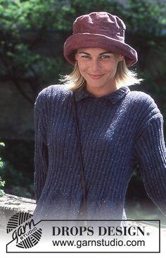 DROPS kjole i Silke-tweed med fletter.
