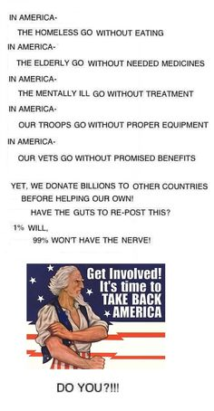 Take Back America... get involved and stay informed.