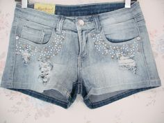 short jean color azul claro
