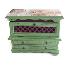 Mint Green Shabby Cottage Chic Distressed by LetaPearlEmporium