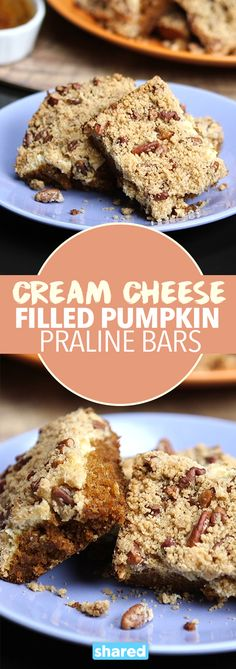 Cream Cheese Filled Pumpkin Praline Bars