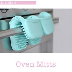 I love these duck egg blue kitchen silicone oven mitts from the Martha Stewart Collection from Macy's, they are so useful and I love how easy they are to clean. Kitchen Oven, Cute Kitchen, Vintage Kitchen, Kitchen Ideas, Duck Egg Blue Kitchen, Kitchen Must Haves, Shabby Vintage, Craft Storage, Kitchens