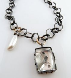 http://www.pinterest.com/joliesarts ∗ »☆Elysian-Interiors ♕Simply Divine #jewelry ~ Phantom Quartz Chain necklace