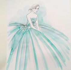 Pencil Art Drawings, Art Sketches, Model Sketch, Dress Drawing, Watercolor Art, Watercolor Dress, Fashion Design Sketches, Fashion Pictures, Designs To Draw