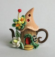 *POLYMER CLAY ~ fairy houses