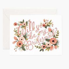 Will You Be My Bridesmaid? Card Bridesmaid Proposal Cards, Be My Bridesmaid Cards, Will You Be My Bridesmaid, Bridesmaid Gifts, Asking Bridesmaids, Wedding Bridesmaids, Diy Wedding, Wedding Ideas, Wedding Stuff