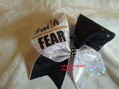 Faith Over Fear Cheer Bow
