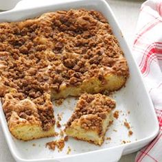 Apple Pear Coffee Cake Recipe from Taste of Home -- shared by Joanne Hoschette of Paxton, Massachusetts