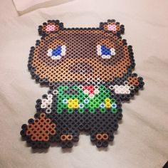 Tom Nook - Animal Crossing perler beads by philthyturtle