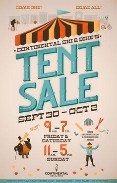 Tent Sale Poster by Jacob Boie, via Behance