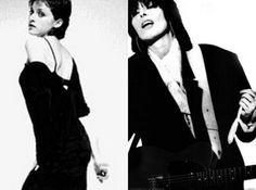 The author claims this Madonna look is a Chissie Hynde rip off. I have trouble seeing it