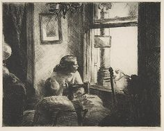 East Side Interior Edward Hopper (American, Nyack, New York 1882–1967 New York) Date: 1922 Etching