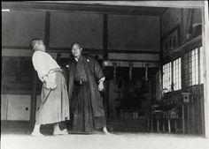 Aikido Founder Morihei Ueshiba training at the Ueshiba Juku in Ayabe around 1922. More about Morihei Ueshiba and his teacher Sokaku Takeda in Shirataki in this article on the Aikido Sangenkai blog: http://www.aikidosangenkai.org/blog/morihei-ueshiba-sokaku-takeda-shirataki/