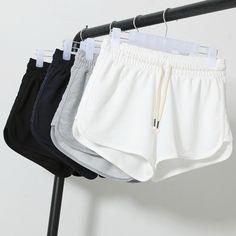 2016 de Moda de Verano Shorts Mujeres Cintura Elástica Pantalones Cortos Pantalones de Las Mujeres Del Todo-Fósforo Corriendo Sueltos Sólidos pantalones de Algodón Suave Corto Femme