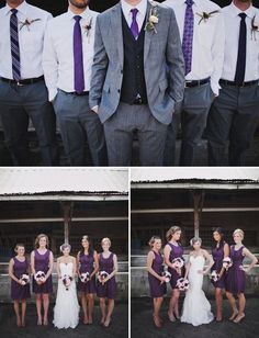 I like the different ties on the groomsmen