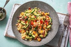 Sommerlicher Orzo-Salat mit Nektarine Orzo Salat, Feta Salat, Eat Smart, Pasta Salad, Bbq, Clean Eating, Ethnic Recipes, Party, Nectarine Recipes