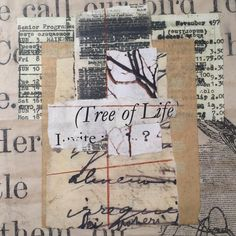 """""""I prefer winter and fall, when you feel the bone structure of the landscape - the loneliness of it, the dead feeling of winter.  Something waits beneath it, the whole story doesn't show."""" Andrew Wyeth.  #donnawatson_artist #donnawatsonart #collage #ephemera #vintagepaper #andrewwyeth"""