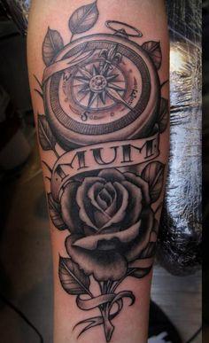 9 compass rose tattoo