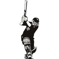 Batsman Cricket Sports and Hobbies Wall Decal Wall Art Stickers 02 - Vinyl Sticker Wall Art Deco Decal Width - Black Vinyl Pokemon Wall Stickers, Wall Stickers Sports, Cricket Logo, Cricket Sport, Cricket Wallpapers, 3d Art Drawing, Wall Art Wallpaper, Digi Stamps, Semi Final