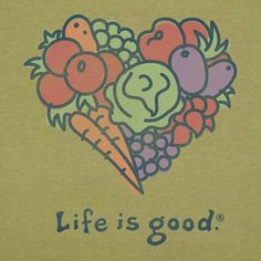 Life is good® 'Crusher' Retro Green Tee Joseph Parker, Green Tee, Just Eat It, Cool Posters, Cool Shirts, Feel Good, Life Is Good, Good Things, Retro