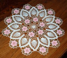 Crochet Patterns - Crochet Doily Patterns - Crochet Motif Doily Patterns, Page 2 Free Crochet Doily Patterns, Crochet Motifs, Thread Crochet, Crochet Crafts, Hand Crochet, Crochet Lace, Crochet Stitches, Crochet Projects, Free Pattern