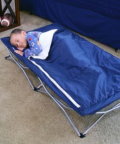 Loving this Navy My Cot Deluxe on #zulily! #zulilyfinds