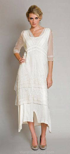Summer Eve Wedding! Romantic Waltz! (any age, Love is timeless!) Romance is still alive! Nataya vintage style inspired dress al-5901 Ivory White for informal wedding, alternative bride and victorian reproduction bridesmaids