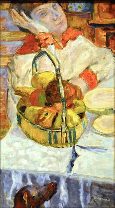 Pierre Bonnard - Woman with Basket of Fruit, 1918