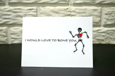 Funny Love Card- I would love to bone you, Valentine's day card, Anniversary card, Birthday card, Adult card by NishsCreations on Etsy