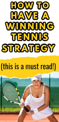 Having a solid tennis strategy is just as important as being able to hit awesome groundstrokes and serves. Learn ways to improve your tennis strategy so that you can win more matches. Tennis Equipment, Tennis Gear, Tennis Tips, Sport Tennis, How To Play Tennis, Tennis Lessons, Tennis Accessories, Tennis Match, Tennis Players