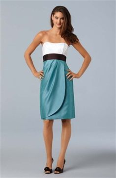 Column Strapless Knee-length Sleeveless #Bridesmaid #Dress Style Code: 05195 $69