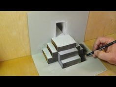 Mixed Reality Illusion - Pop-up Papercraft & Drawing Stairs - Trick Art for Kids and Adults - YouTube