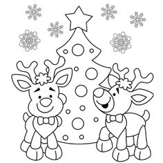 christmas reindeer coloring pages see more i love this picture i just printed it out im going to
