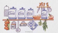 Point de croix à broder les pots à épices sur toile aida kit broderie de Marie Coeur 4849