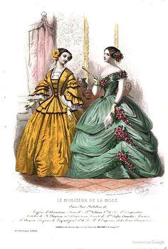"page from 1855 ""Le Moniteur de la mode, Journal du grand monde"" viewable online here: http://books.google.ca/books?id=QHMOAAAAQAAJ&printsec=frontcover&hl=fr&source=gbs_ge_summary_r&cad=0#v=onepage&q&f=false"