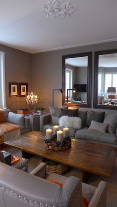 Warm And Cozy Living Room In Taupe With A Touch Of Orange   Fabrics Loro  Piana White And Taupe Living . Sallon Taupe Et Blanc