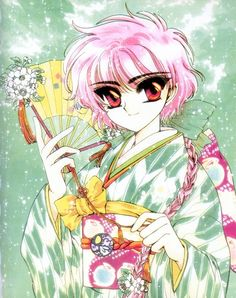 Tags: Anime, CLAMP, Magic Knight Rayearth, Shidou Hikaru, Official Art
