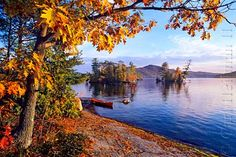 Island hopping and picnics in the fall Fall on Lake George NY ...Love this isles...JTR