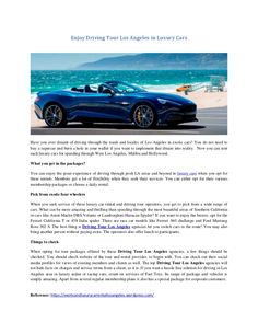 Discover Southern Californias Nicest Areas At The Wheel Of - Rent aston martin los angeles