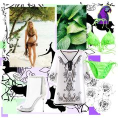 Untitled #2538 by katikadiva on Polyvore featuring Candie's, B Brian Atwood, Marimekko and Showthetrueyou