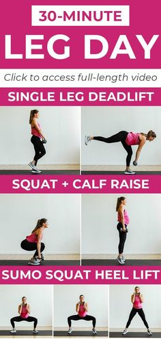 30-Minute Leg Day Workout Video