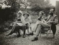 Angelica, Clive Bell, Julian and Lytton Strachey, 1926