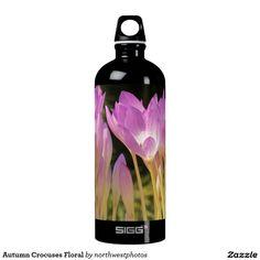 Autumn Crocuses Floral Aluminum Water Bottle