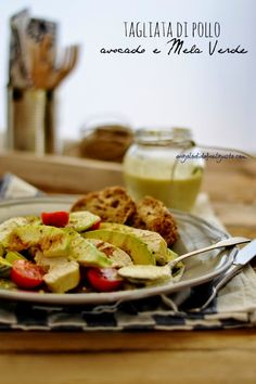 """Dafne's Corner """" il Gusto"""": Tagliata di petto di pollo con verdure e finto aioli alla mela verde"""