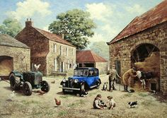 King Jigsaw Puzzle - Vets Visit - 500 pieces by King International ** Continue to the product at the image link. Class Pictures, Pictures To Paint, Farm Pictures, Kinkade Paintings, Farm Images, Best Jigsaw, Mobile Art, Garage Art, Funky Art