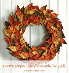 DIY the prettiest paper leaf wreath for fall